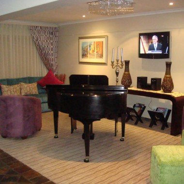 Reception Lounge area with Piano